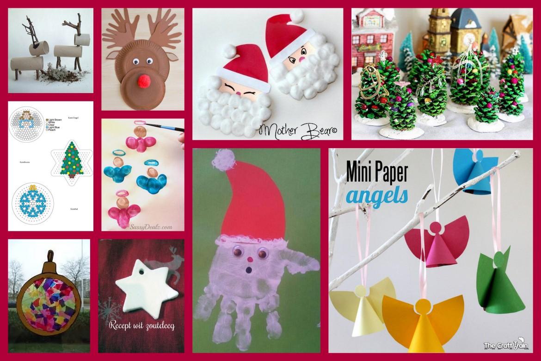 collage kerst DIY met kids